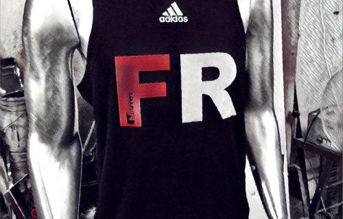 3. Polera Oficial FR Adidas Running S/Mangas Negra